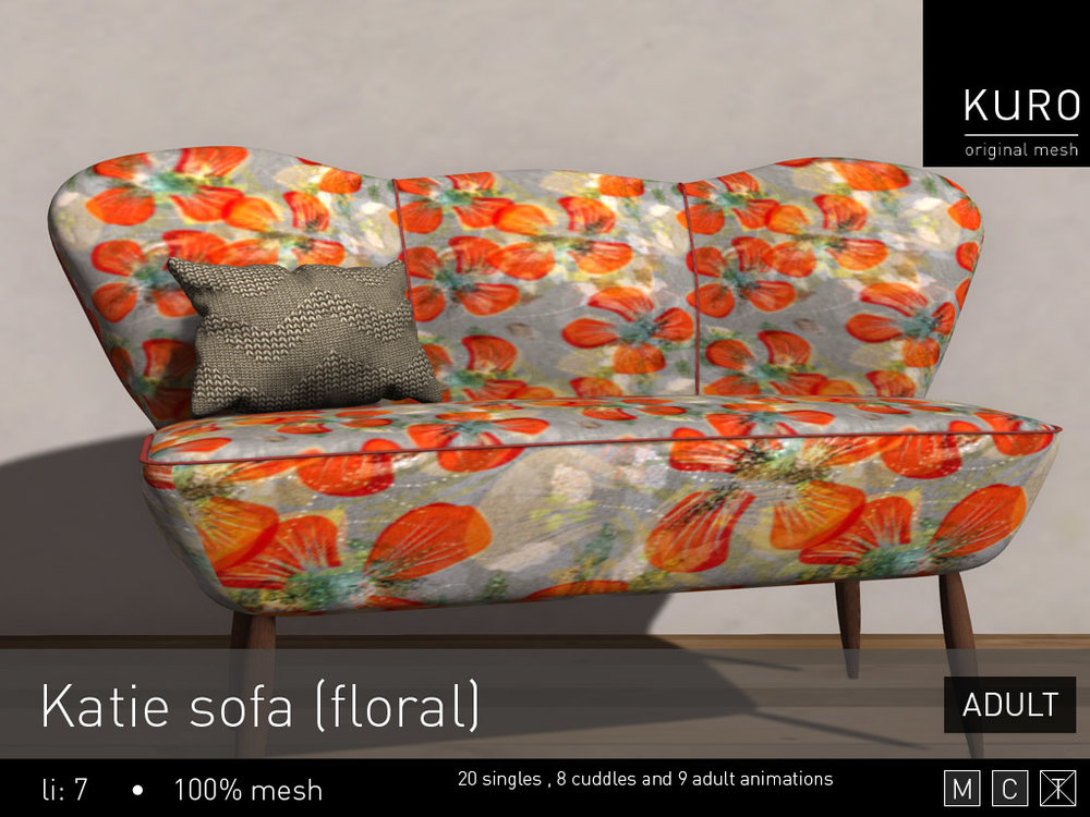 Kuro - Katie sofa (floral) Adult.jpg