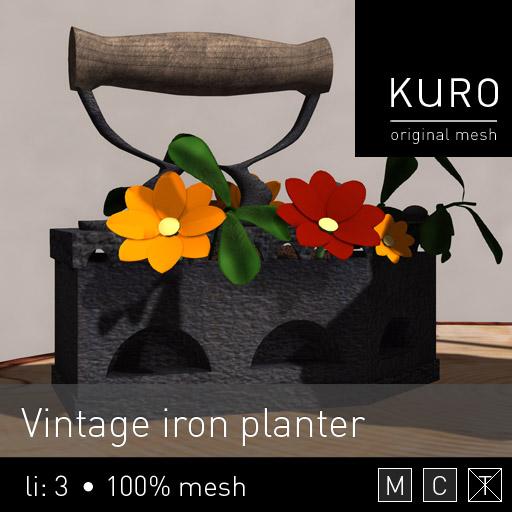 Kuro - Vintage iron planter.jpg