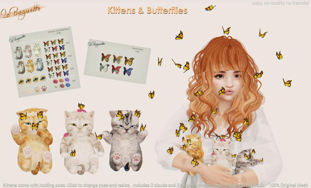 [La Baguette] Kittens & Butterflies  2048.jpg