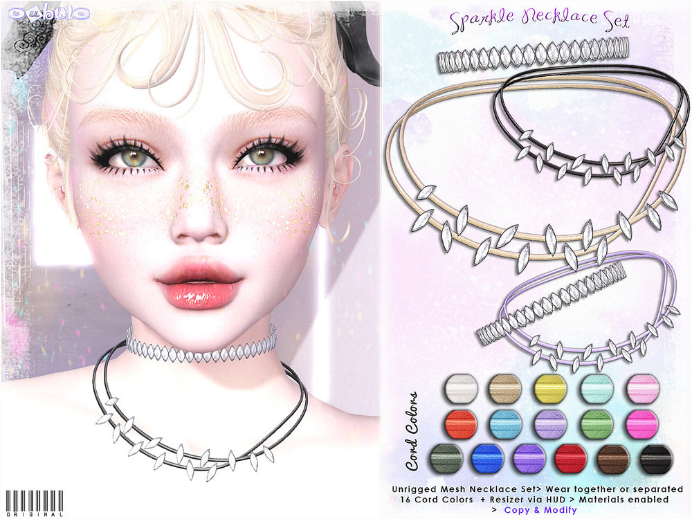 [ bubble ] Sparkle Necklace Set