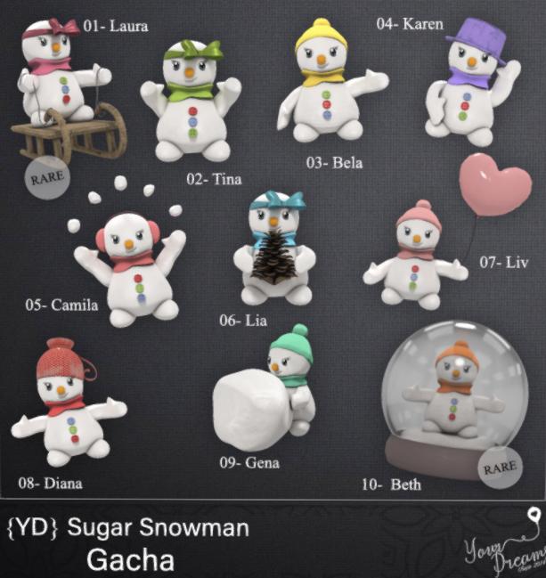 {YD} Sugar Snowman Gacha