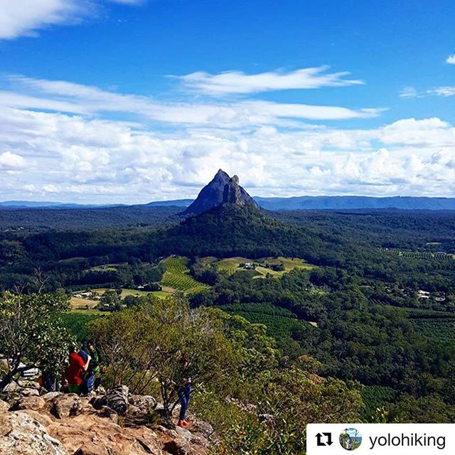 Another vista taking in Glass House Mountains National Park, which is the Park In Focus in the August-September 2017 issue of our bi-monthly magazine, Protected.  ###  Repost @yolohiking ・・・ Still my favourite hiking spot, always love coming back here and see how far I've progressed physically and else!  ###  #glasshousemountains #glasshousemountainsnationalpark #glasshousemountainsnp #queenslandnationalparks #nationalparksqld #connectandprotect #protectedmagazine #natureconservation #nature #natureexperience #bushwalking #sunshinecoast #queensland #australia #australianmountains #mtngungun #mountngungun