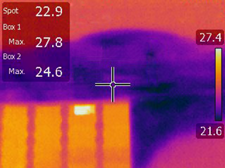 Infrared Scan Showing Moisture