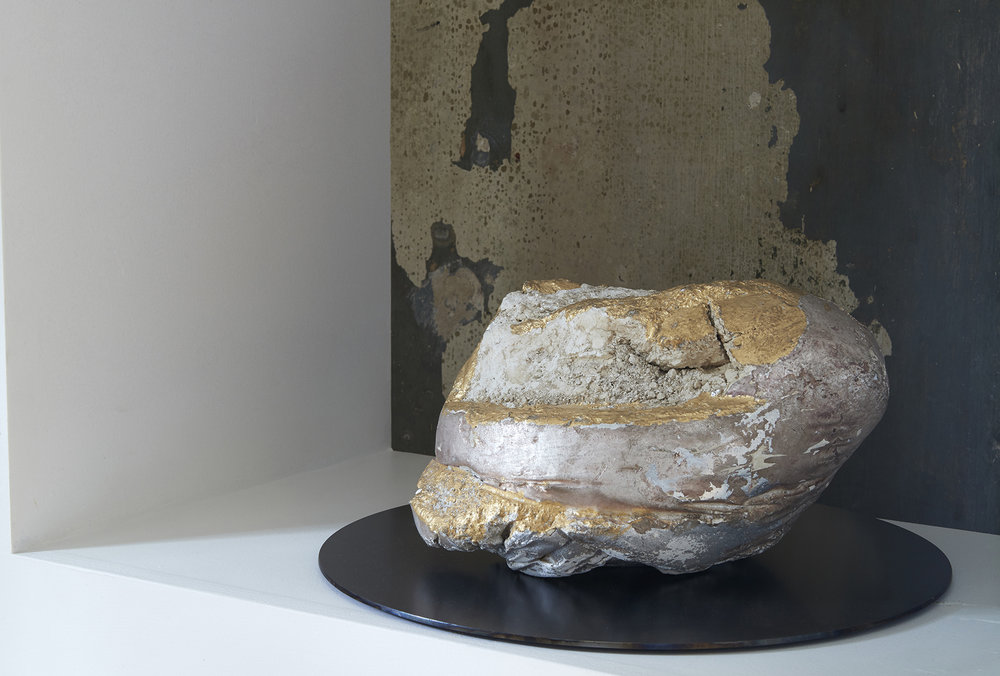 Collecting Culture (Remains of Desire) 2010-18 Found object, plaster, gold leaf, silver leaf, steel 25.5 x 35 cm   $4,900