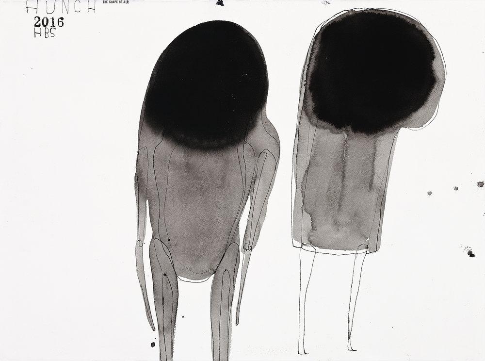 Heather B. Swann   Hunch   2016  ink on paper  56 x 76 cm