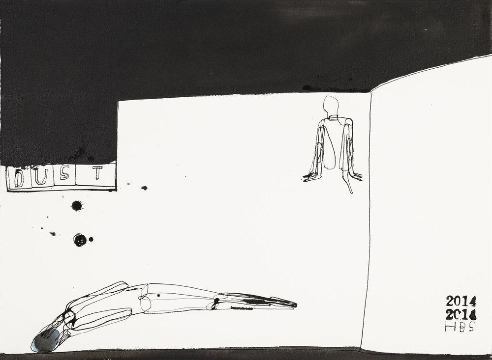 Heather B. Swann   Dust   2014  ink on paper  56 x 76 cm