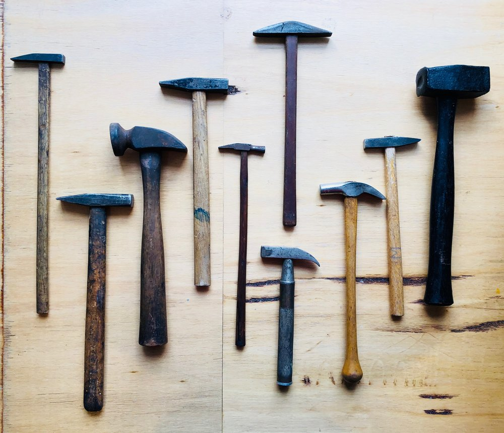 the long rock collection - old hammers