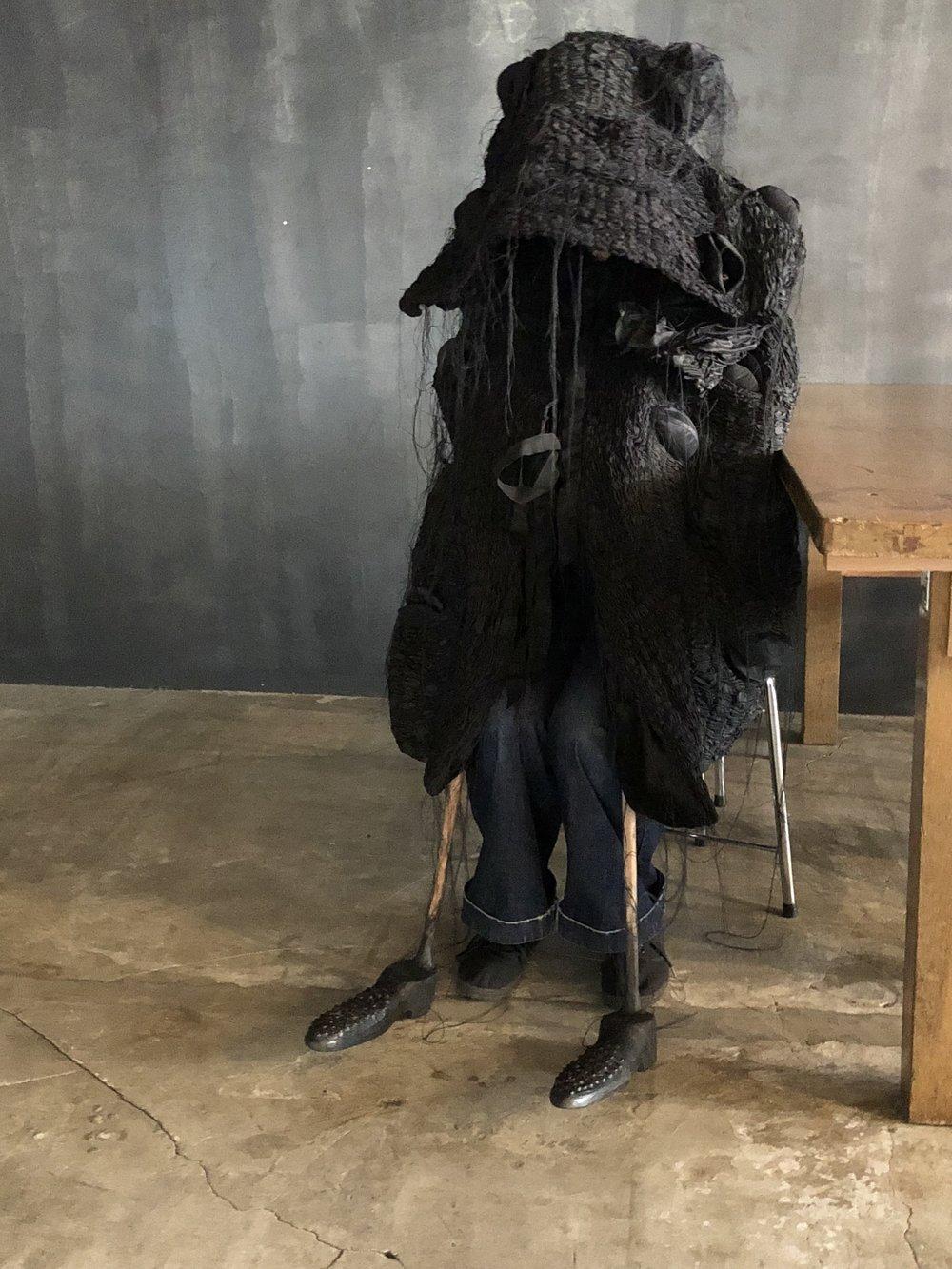 Banksia Queen  2018  silk, glass, wood, cotton  installation dimensions variable  performer: mari fukutome
