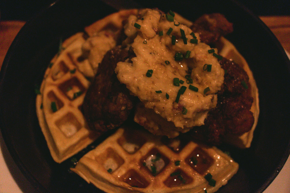Can't say no to fried chicken & waffle!