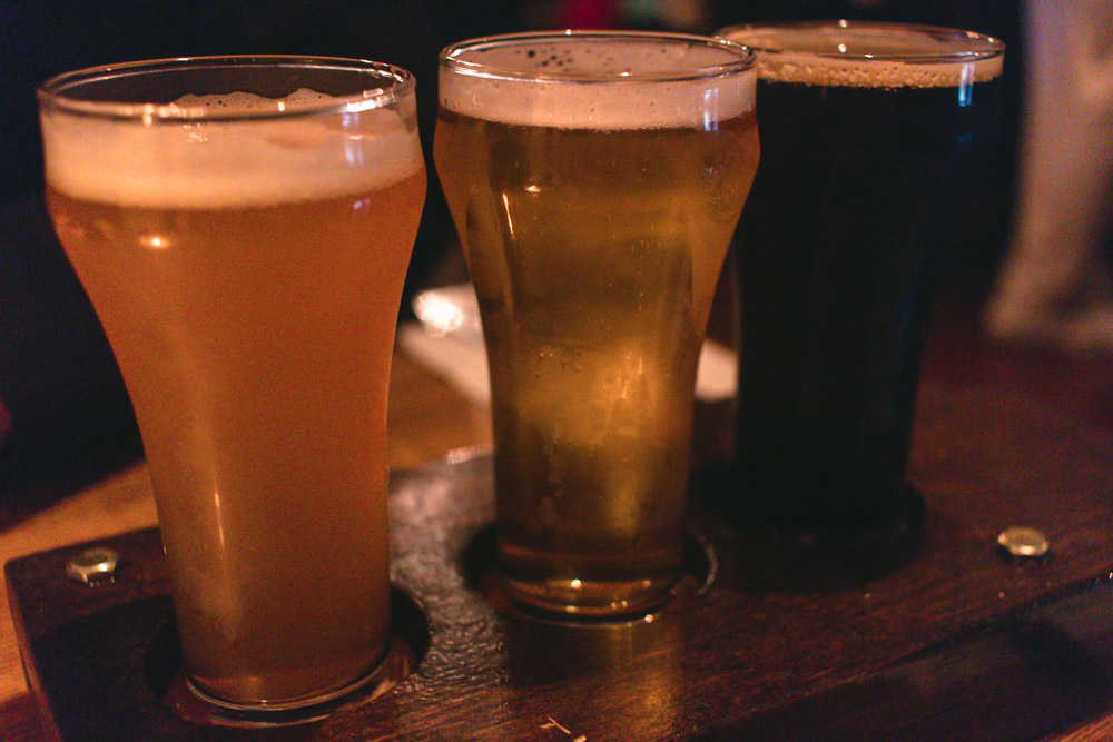 The Wormtown Brewery Beer Flight