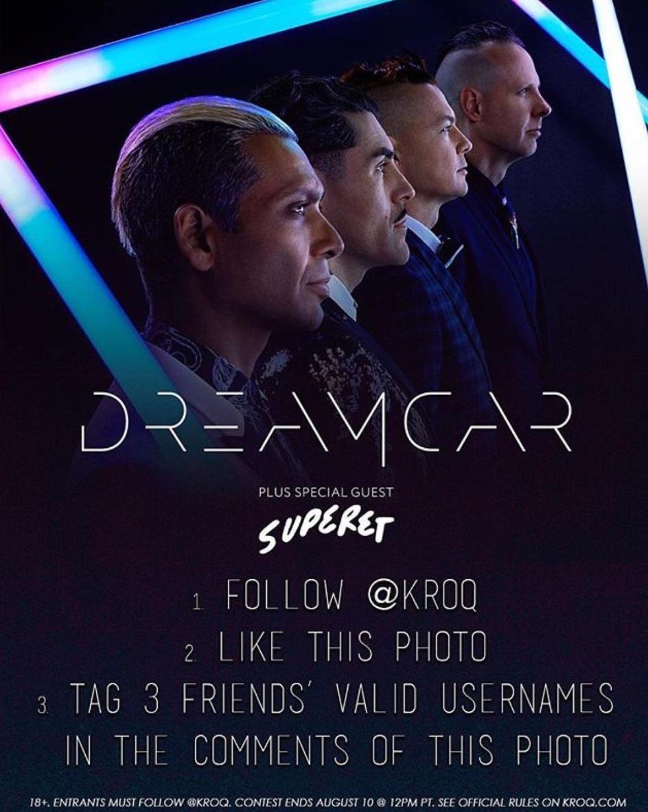 Dreamcar visiting KROQ Thursday 8-10-17 — Dreamcar Fans