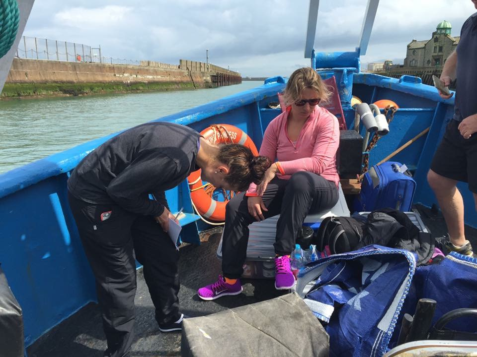 Nicky and Julie Isbill on the way to the English Channel - 2015