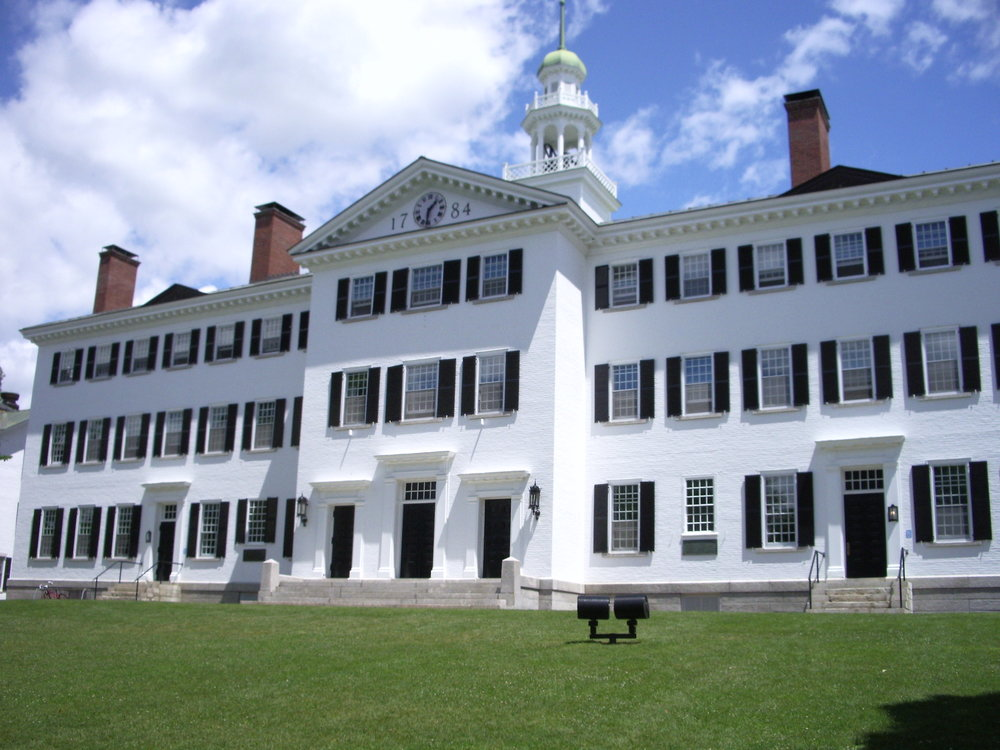 Dartmouth Hall, Dartmouth College, Hanover, NH
