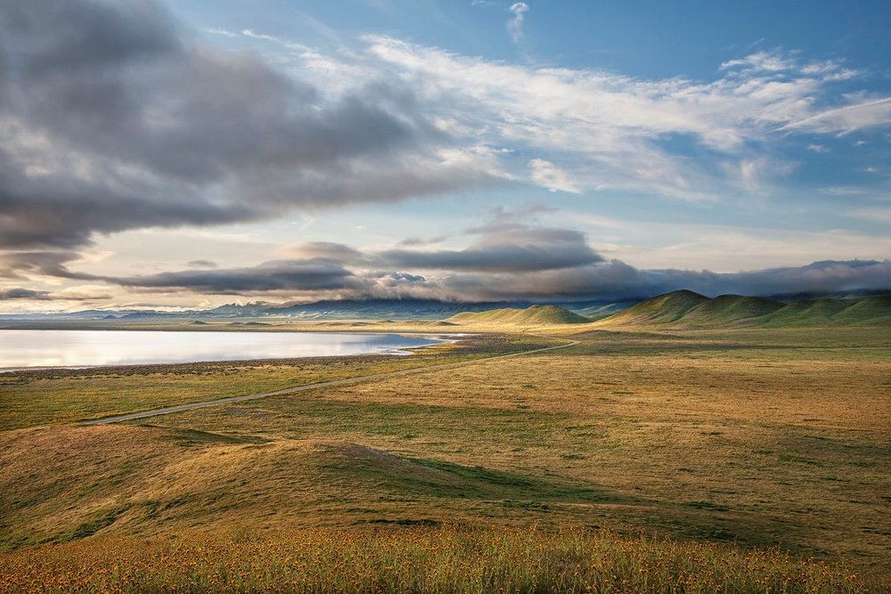 Soda Lake, Carrizo Plain National Monument. Copyright Bill Bouton. Used with permission, all rights reserved.