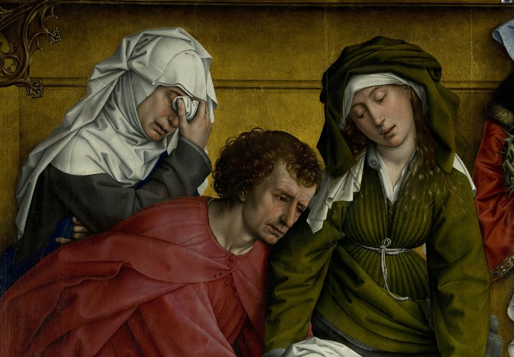 Weyden,_Rogier_van_der_-_Descent_from_the_Cross_-_Detail_Mary_of_Clopas,_Saint_John_the_Evangelist_and_Mary_Salome.jpg