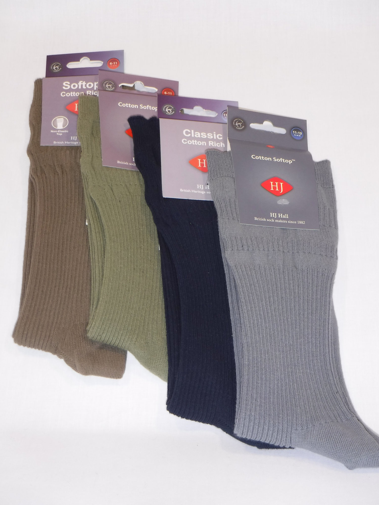HJ Soft Top Cotton Socks - Assorted 1 pair