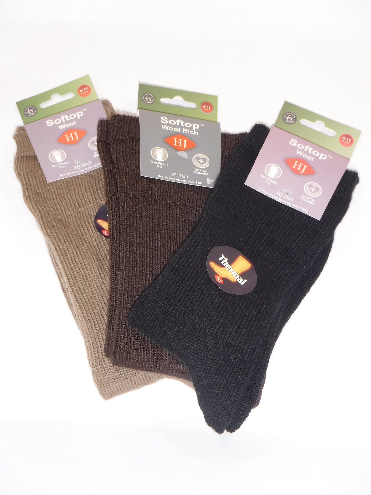 HJ Soft Top Thermal Socks - Assorted 1 pair