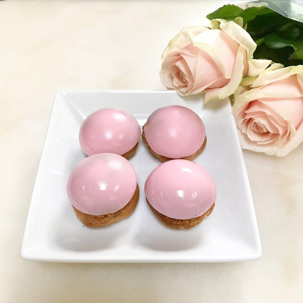 Baby Pink Choux Buns