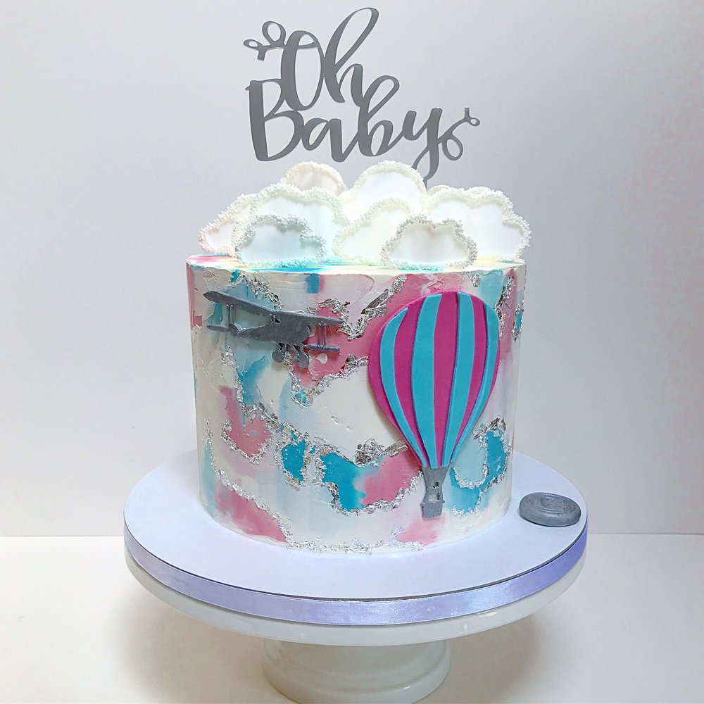 Gender neutral baby shower cake.JPG