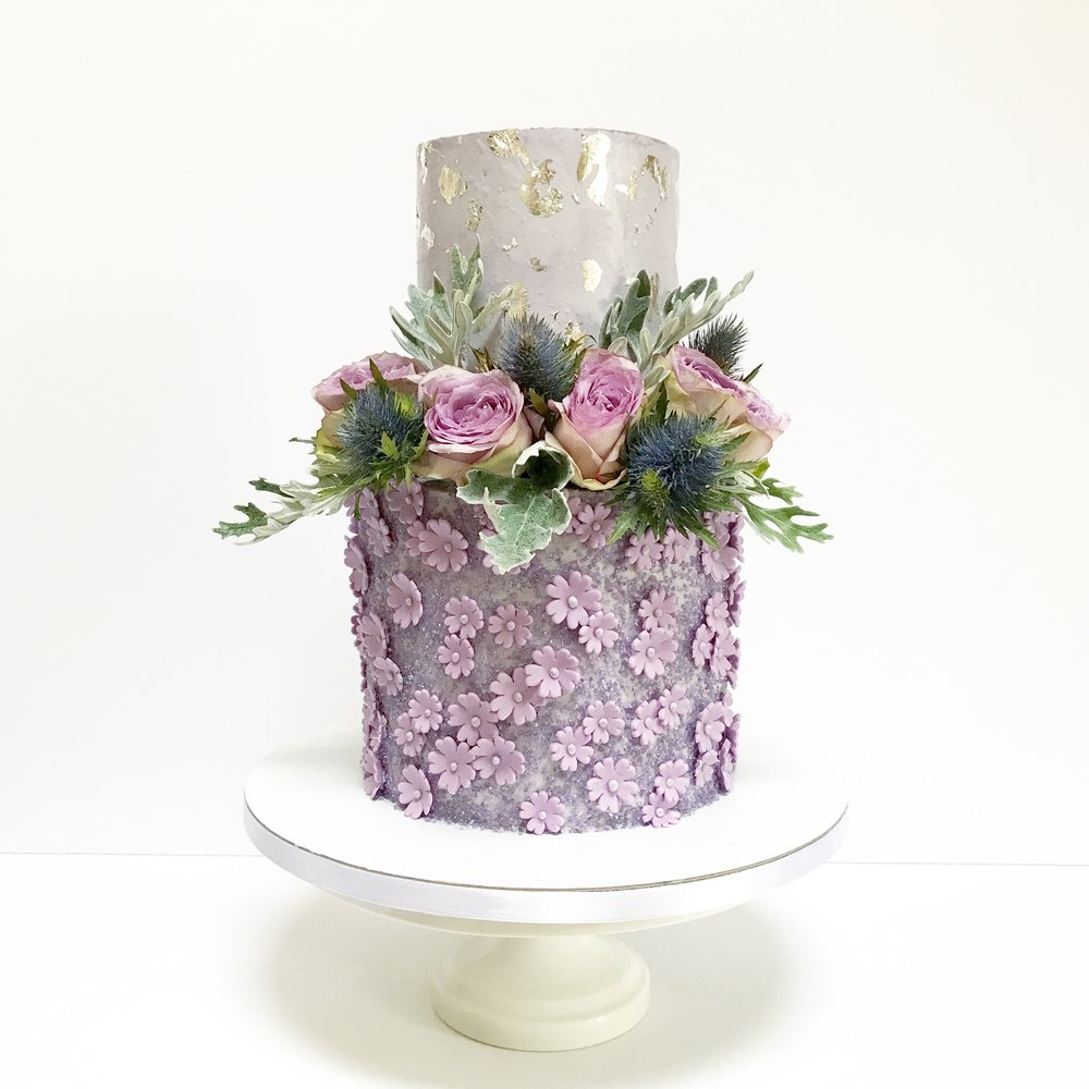 Shimmering Lavender Wedding Cake.JPG