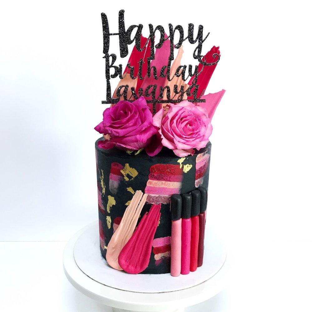Make-Up Inspired Cake