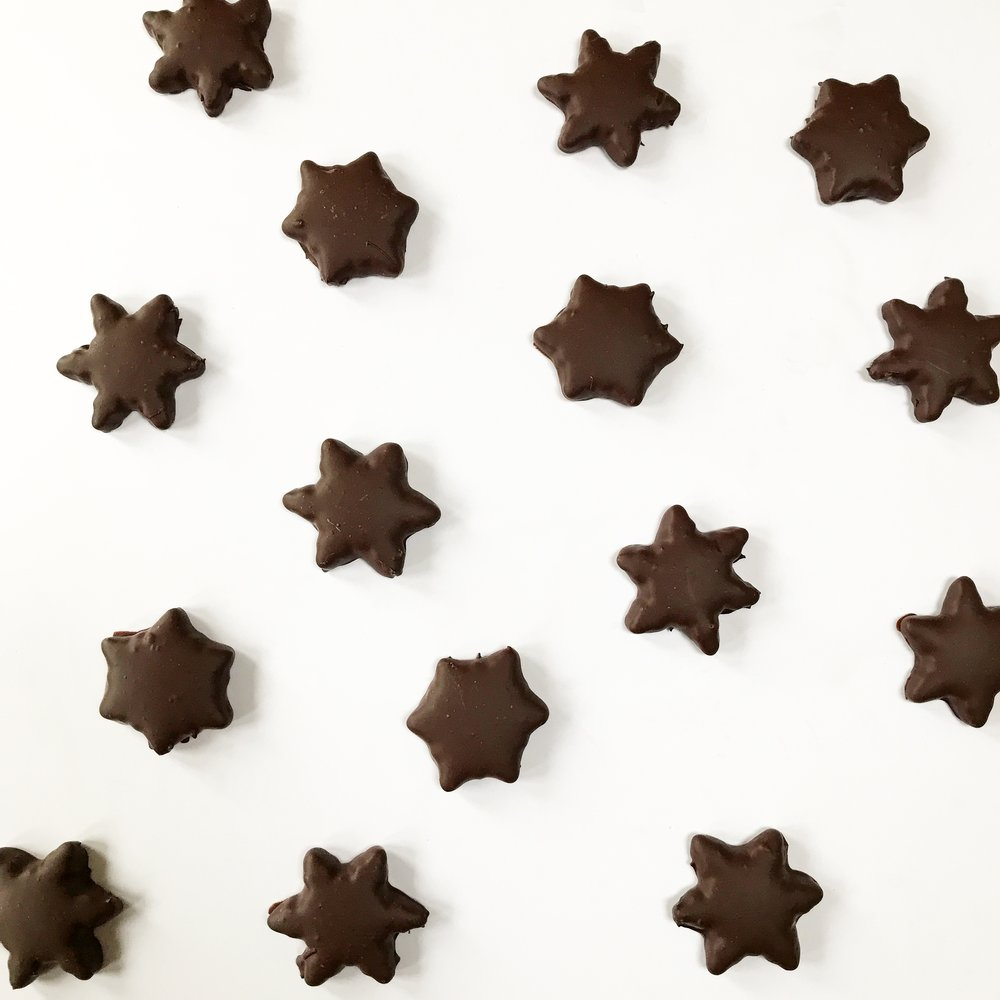 Chocolate covered gingerbread biscuits.JPG