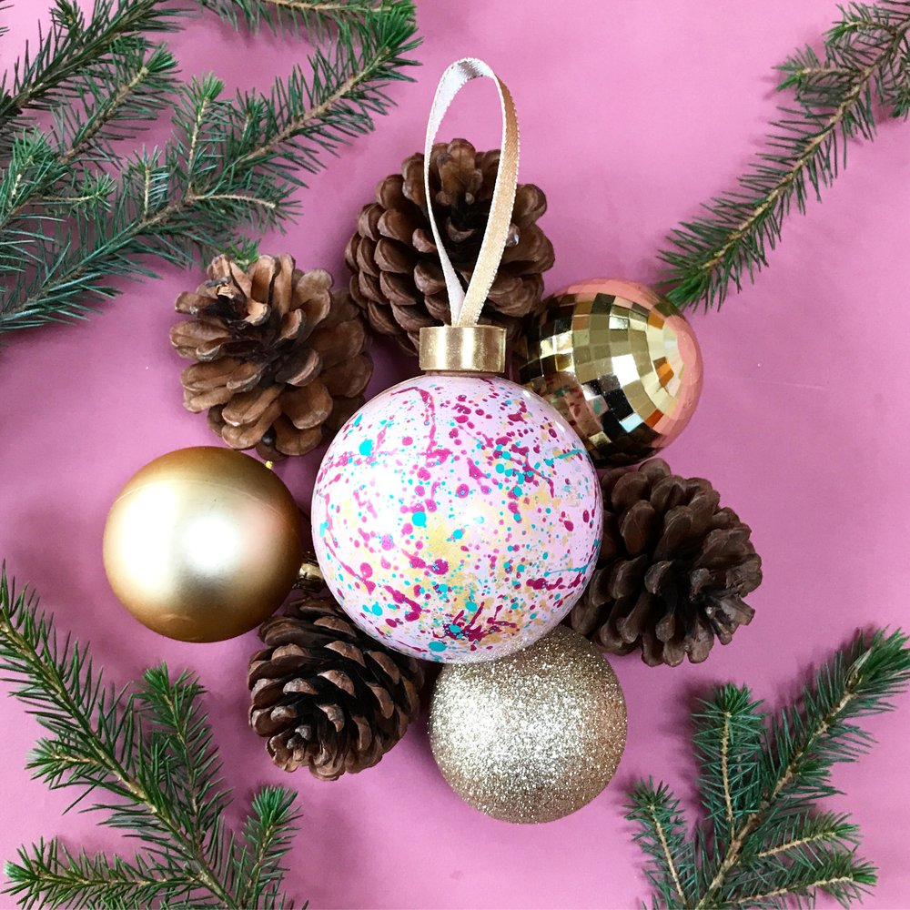 Hand Painted Chocolate Bauble -
