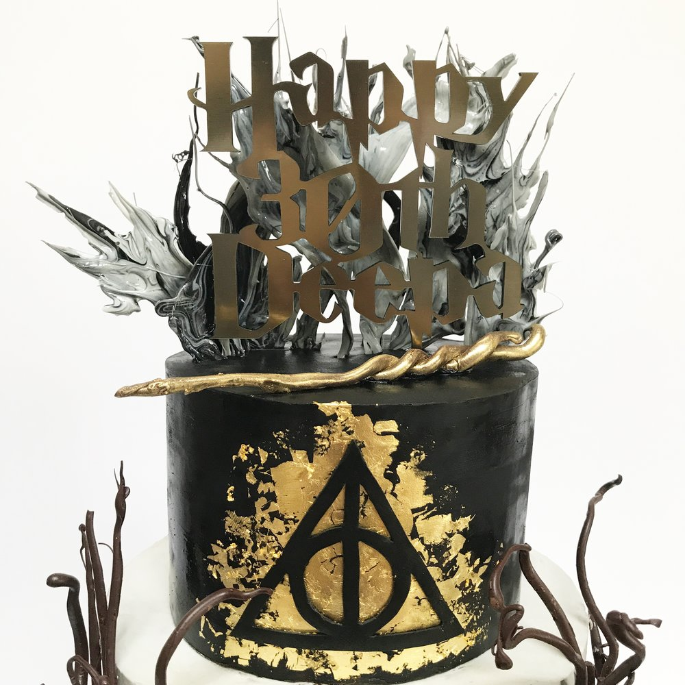 The Deathly Hallows Cake.JPG
