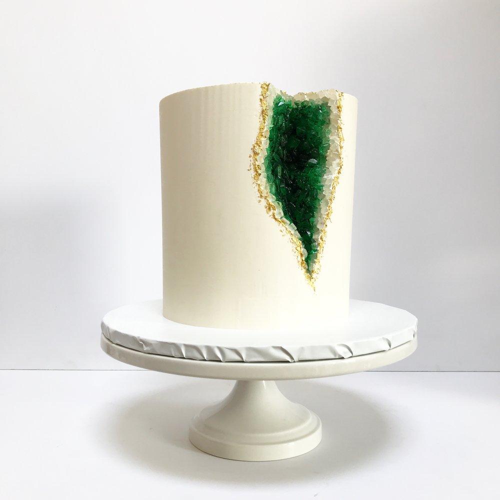 Emerald geode cake.jpeg