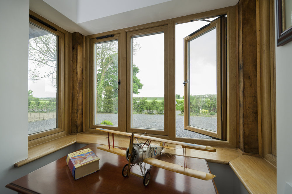 Wood effect PVC Windows