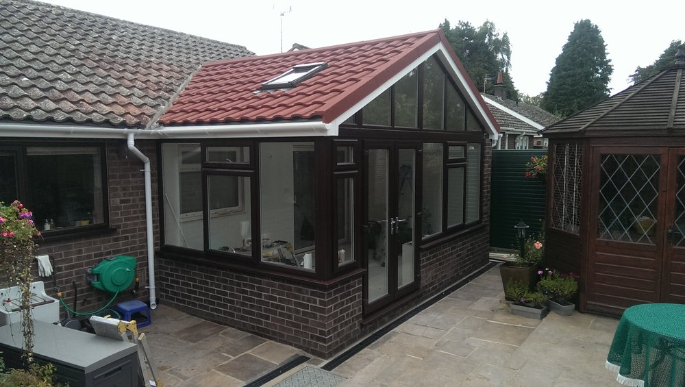 warm roof solid roof tiled roof conservatory