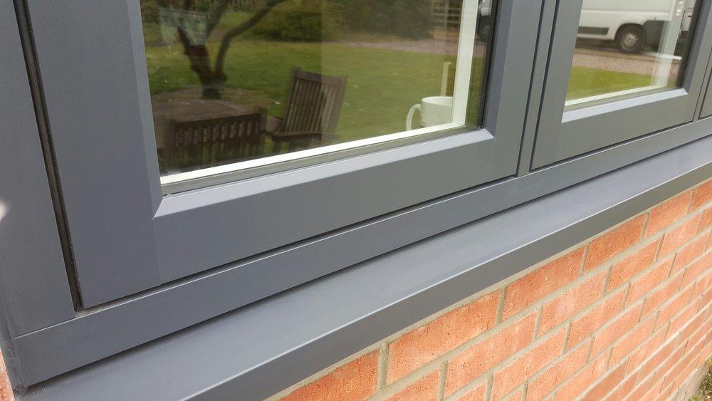 flush casement grey window
