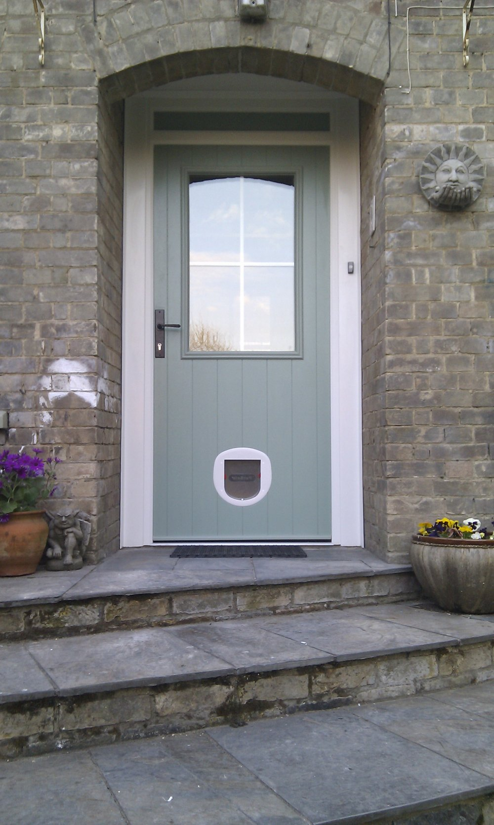 Composite Front door cat flap