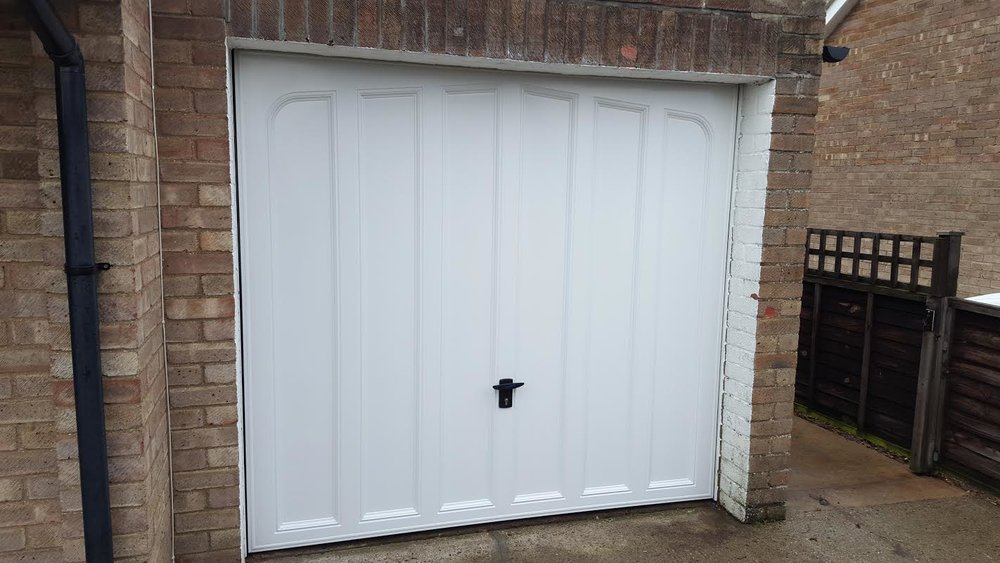 Up and over style garage doors