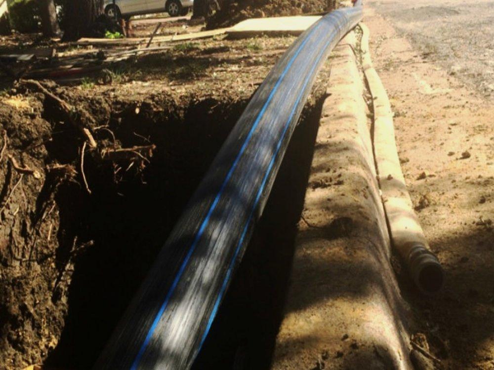 Water Main Installation -