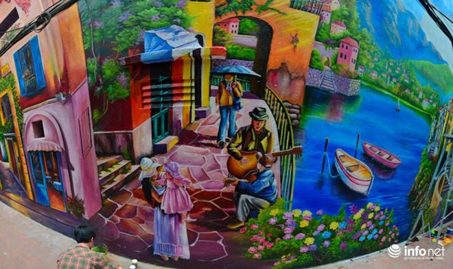 Bức tranh Venice 3D này có độ bền màu từ 10-20 năm.