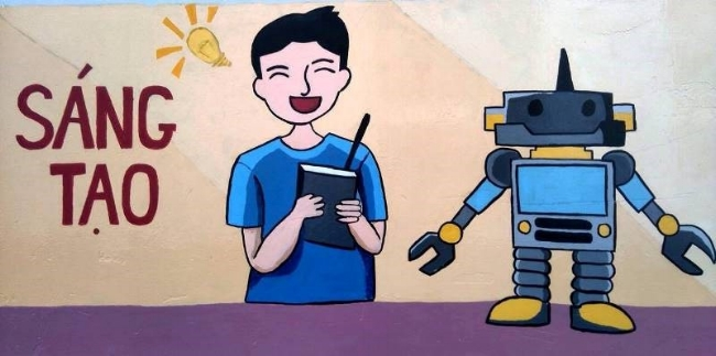 Những mảng hình ảnh nhỏ với nhiều nội dung về ý thức học tập, cư xử hay sinh hoạt cộng đồng được các bạn chú ý nhấn mạnh.