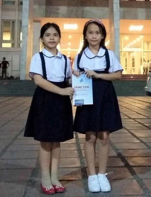 Ngọc Ánh và Thùy Vân có mặt tại lễ trao giải cuộc thi Sáng tạo trẻ dành cho thanh thiếu niên và nhi đồng toàn quốc diễn ra mới đây tại Hà Nội.