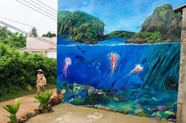Phong cảnh và sinh vật biển - Ảnh: LÊ HỒNG LINH