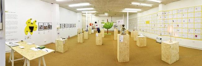Tranh vẽ ý tưởng và một số sản phẩm được trưng bày trong cuộc triển lãm tại Sunderland, quê nhà của nghệ sĩ Dominic