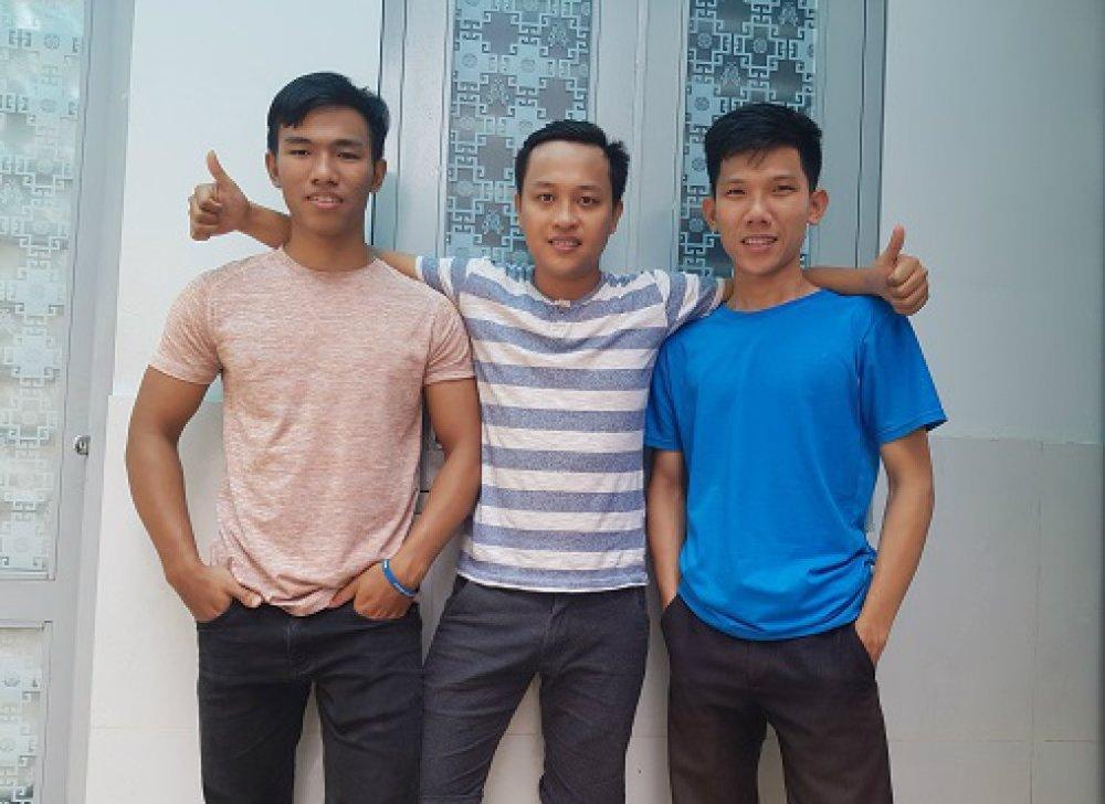 3 chàng sinh viên ĐH Giao thông Vận tải, Phân hiệu TP.HCM. Ảnh: NVCC.