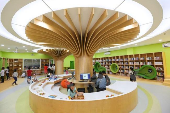 Sáng 16/11, thư viện văn hóa thiếu nhi Việt Nam đã được khai trương tại Thư viện Quốc gia (số 31 Tràng Thi, Hà Nội). (Ảnh: Minh Sơn/Vietnam+)