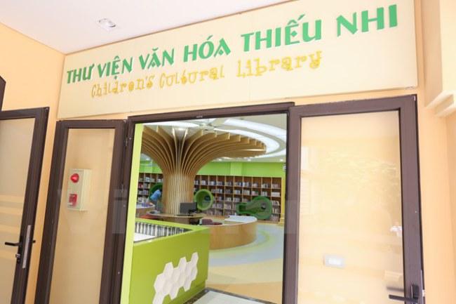 Đó là thư viện văn hóa thiếu nhi do Thư viện Quốc gia Việt Nam và Quỹ hỗ trợ hợp tác văn hóa quốc tế Hàn Quốc (ICF) hợp tác thực hiện. (Ảnh: Minh Sơn/Vietnam+)