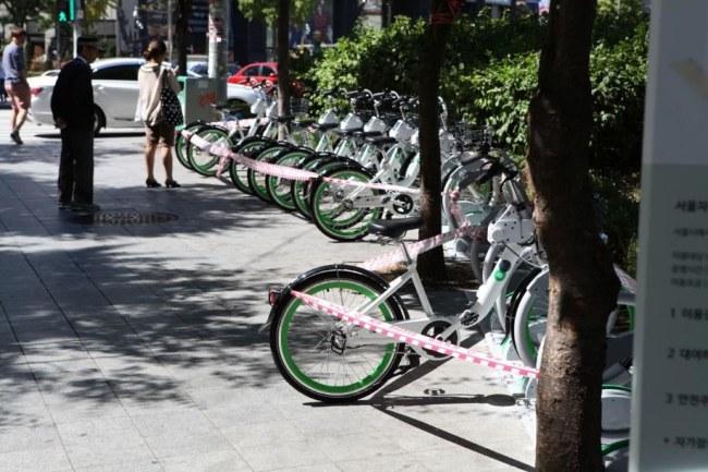 Ảnh: Một bãi xe đạp chia sẻ. Nguồn: Kojects.com