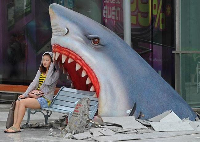 Ảnh: Chiếc ghế mang lại những giây phút vui vẻ khi nghỉ ngơi tại Bangkok (Thái Lan)