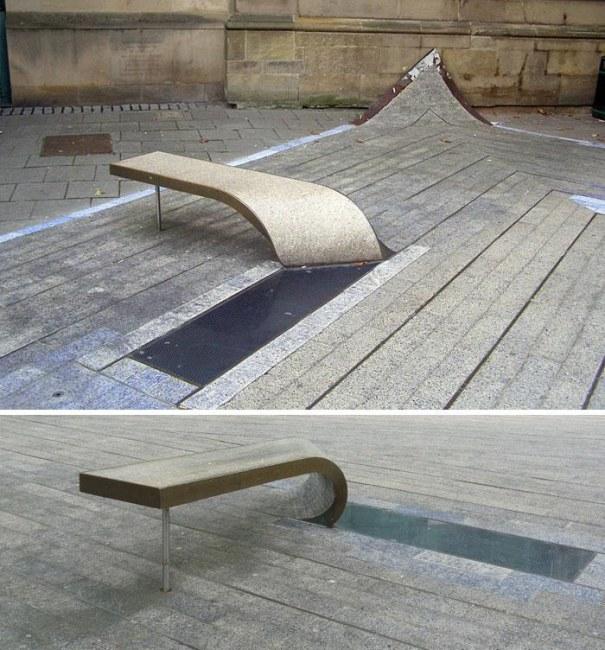 Ảnh: Chiếc ghế công cộng kì lạ và thú vị tại Newcastle (Anh)
