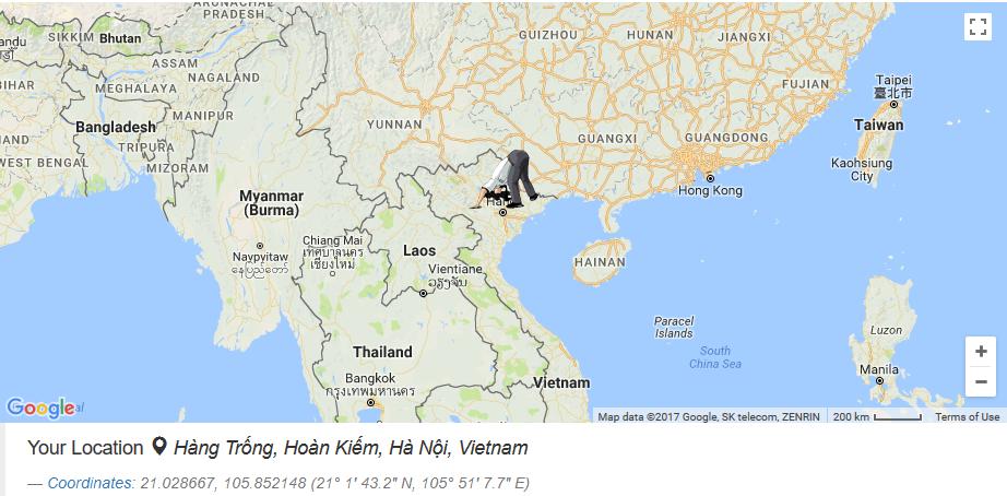 - Nếu bạn bắt đầu đào từ Thủ đô Hà Nội