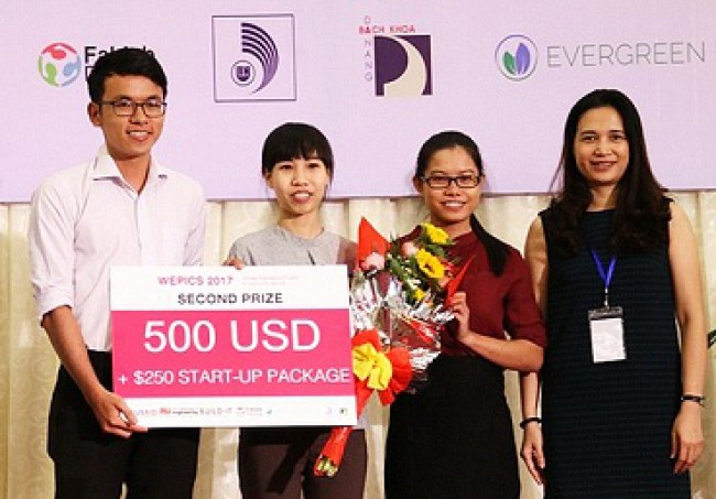 Dự án giành giải Nhì tại cuộc thi WEPICS 2017. Ảnh NVCC.