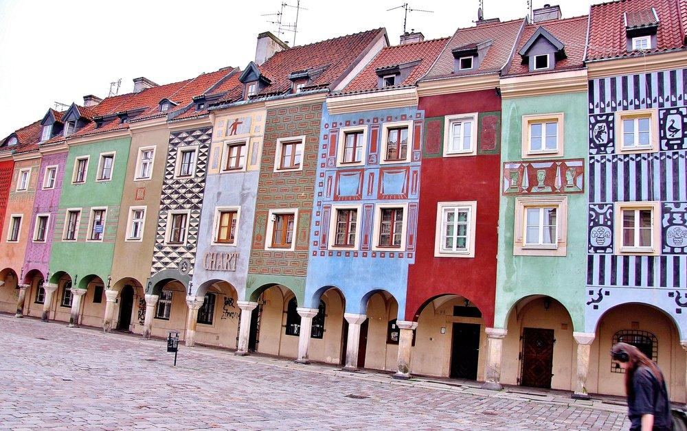 Quảng trường Stary Rynek tại thành phố Poznan, Ba Lan -