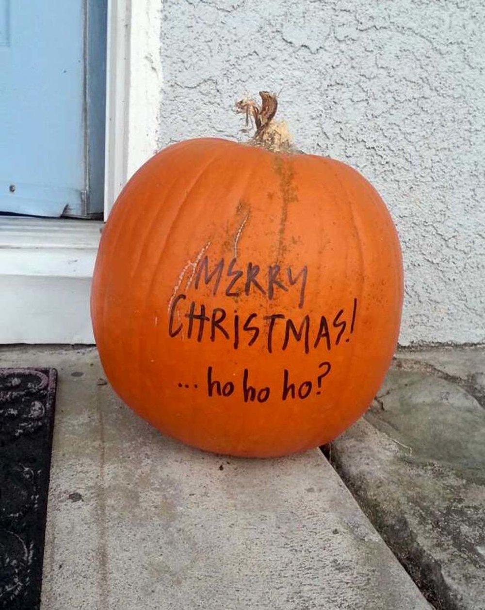 May là mình vẫn chưa dùng quả bí này cho Halloween.